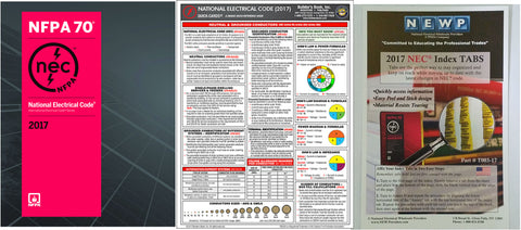 NFPA 70: National Electrical Code (NEC) Spiralbound, 2017 Edition with Tabs and NEC Quick Card