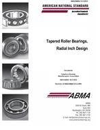 ABMA 19.2:2013 - Tapered Roller Bearings, Radial Inch Design (2013)
