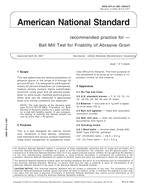 American National Standards Procedure for Ball Mill Test for Friability of Abrasive Grains (UAMA B74.8-1987 (R2007) )