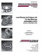 ABMA 9:2015 Load Ratings and Fatigue Life for Ball Bearings