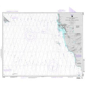 NGA Chart 19008 Hawaiian Islands (OMEGA-BATHYMETRIC CHART)