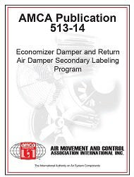 AMCA 513-14 - Economizer Damper and Return Air Damper Secondary Labeling Program