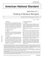 American National Standards Specifications for Grading of Abrasive Microgrits (UAMA B74.10-2010)