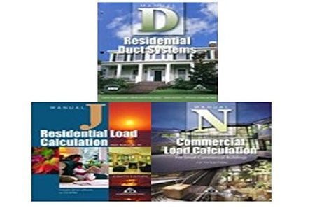 Manual J Residential Load Calculation Book Bundle