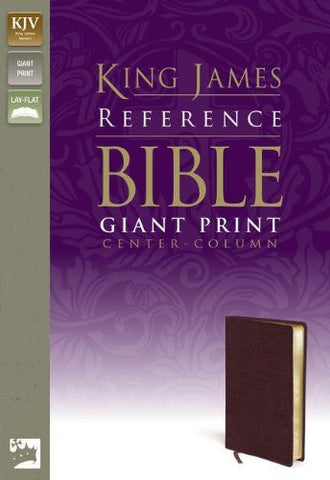 KJV, Reference Bible, Giant Print, Bonded Leather, Burgundy, Red Letter Edition
