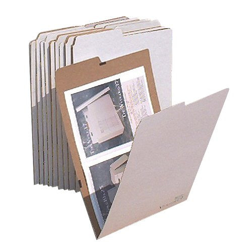 AOS - AOS Flat Storage File Folders - Stores Flat Items up to 12x18 - Pack of 10