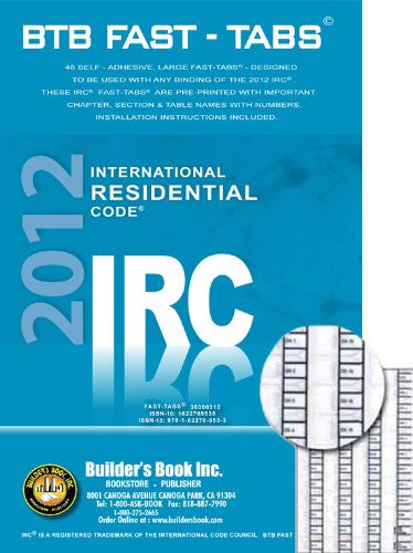 2012 International Residential Code (IRC) BTB Fast Tabs