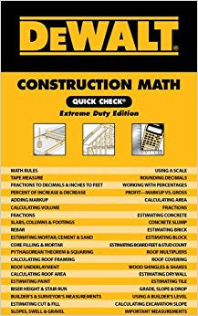 DEWALT Construction Math Quick Check: Extreme Duty Edition (DEWALT Series)