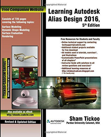 Learning Autodesk Alias Design 2016, 5th Edition