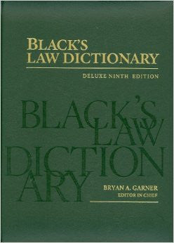 Black's Law Dictionary: Deluxe Ninth Edition (Black's Law Dictionary (Thumb-Index))