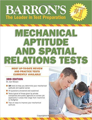 Barron's Mechanical Aptitude and Spatial Relations Test, 3rd Edition (Barron's Mechanical Aptitude & Spatial Relations Test)