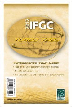 2012 International Fuel Gas Code Turbo Tabs for Loose Leaf Edition (International Code Council Series)