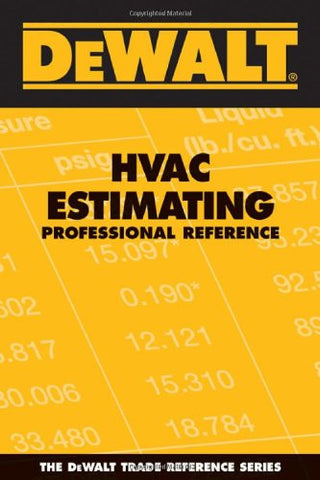 DEWALT HVAC Estimating Professional Reference