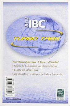 2012 International Building Code Turbo Tabs for Soft Cover Edition (International Code Council Series)