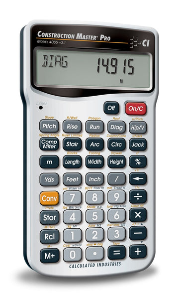 Calculated Industries 4065 Master Pro Construction Calculator, With Case & Batteries