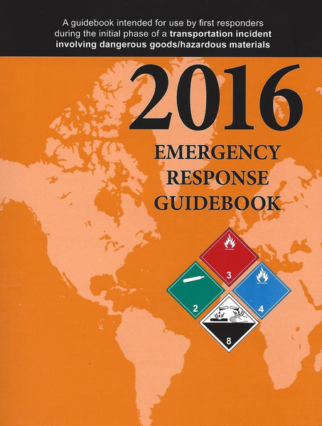 "2016 Emergency Response Guidebook, Standard Pocket Size, 4"" x 6"""