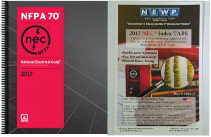 NFPA 70: National Electrical Code (NEC) Spiralbound, 2017 Edition with Tabs
