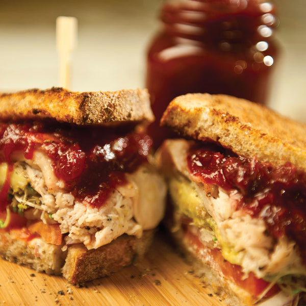 Roasted Turkey Sandwich with Cranberry Orange Chutney
