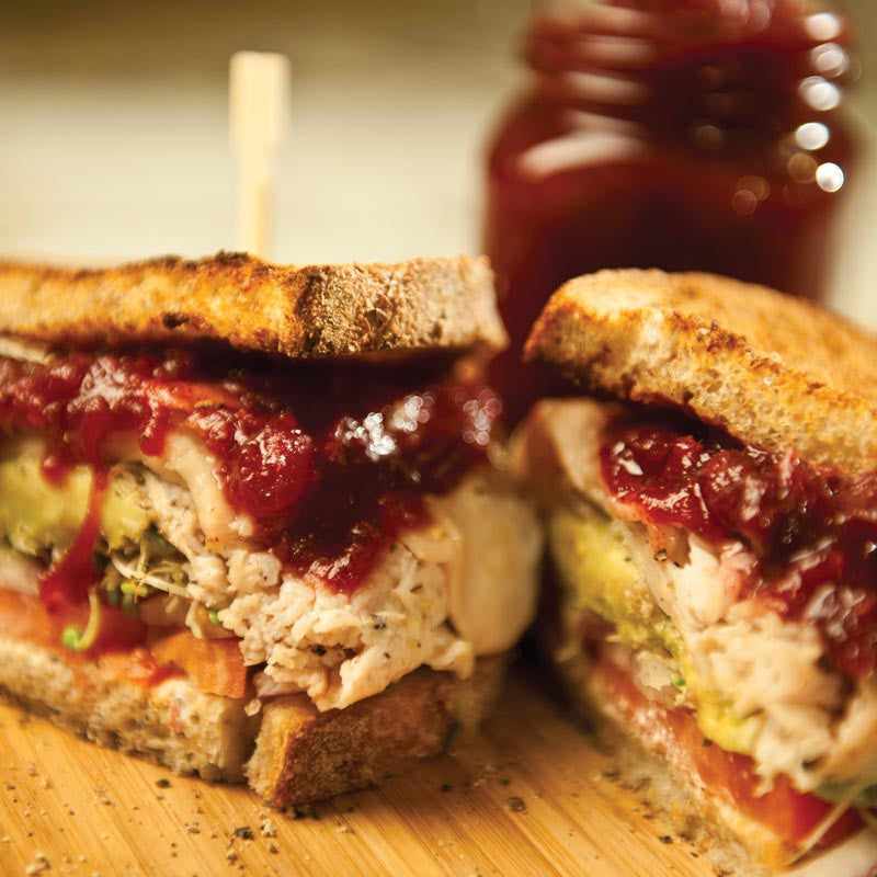 Cranberry Orange Roasted Turkey Sandwich