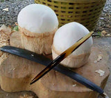 1 Light Color Buffalo Horn Knife - Cooking Thai Food