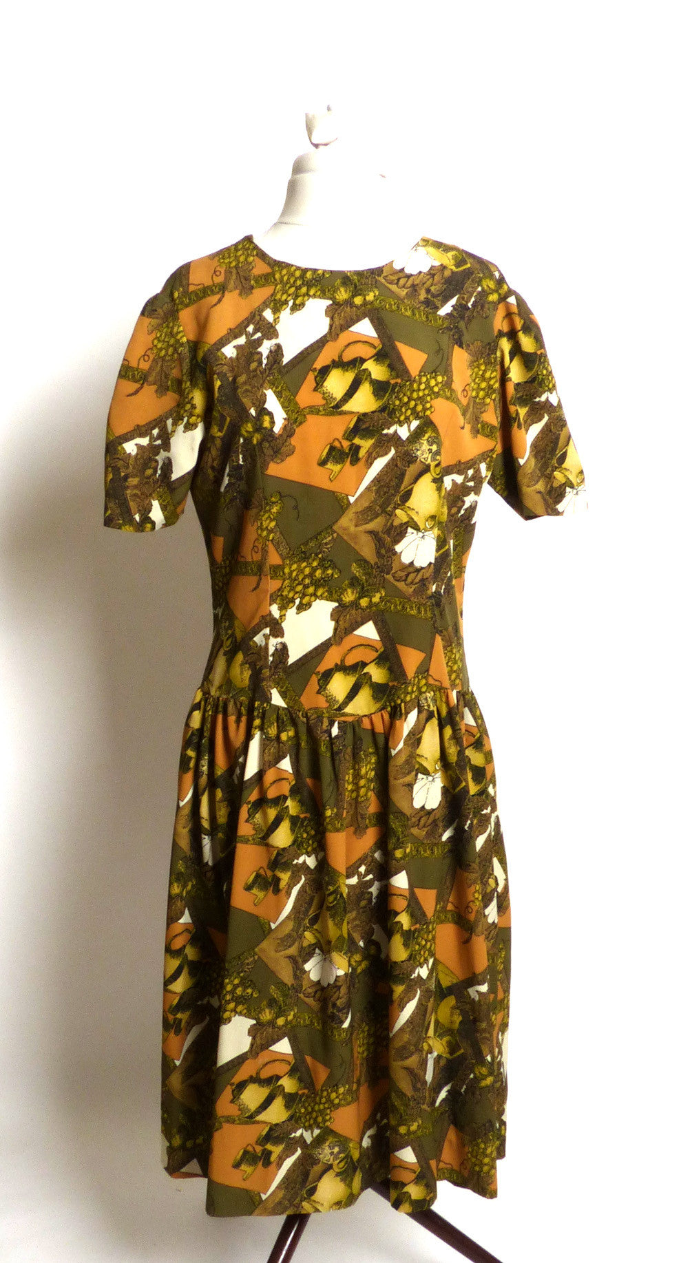"Circa 1960s Silk ""Tea Time"" Dress"