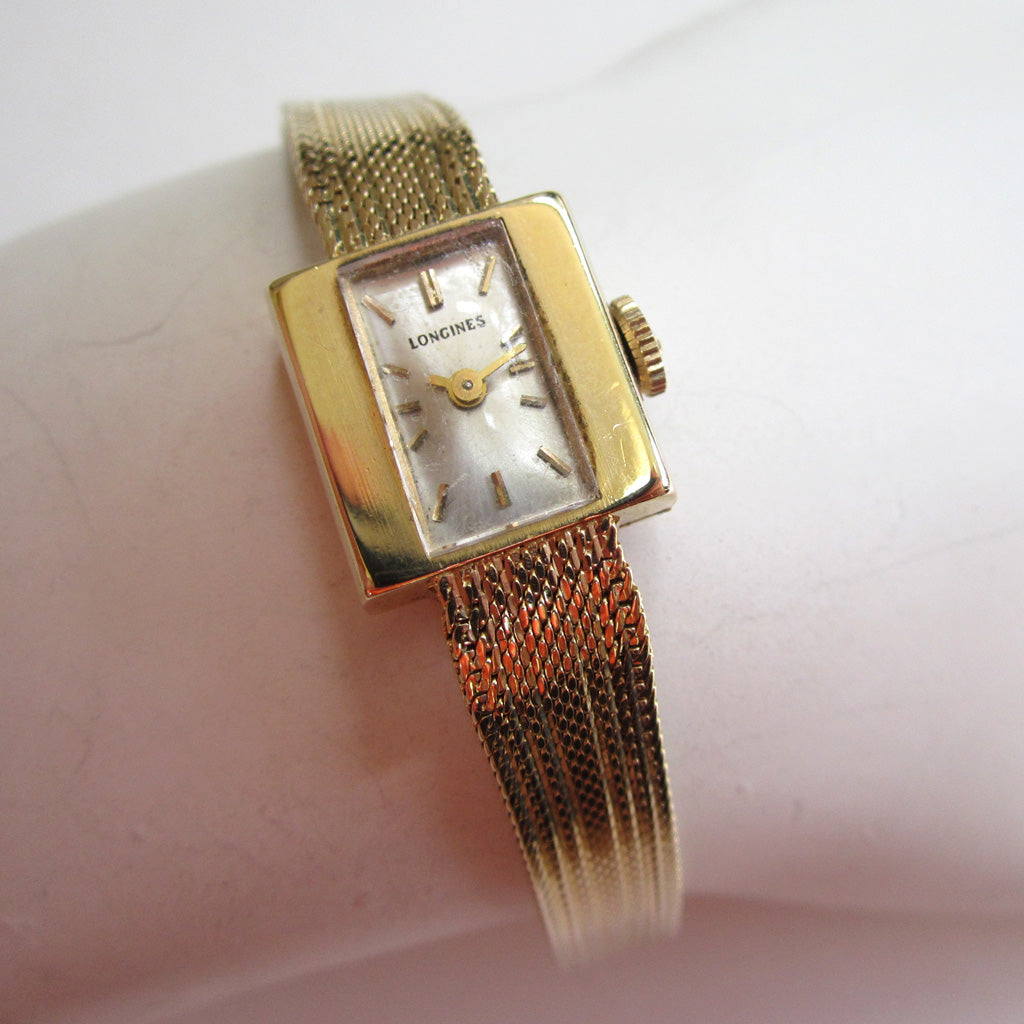 Circa 1966 Ladies 14K Yellow Gold French Longines Watch