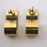 14K Gold Scrolled Pierced Earrings
