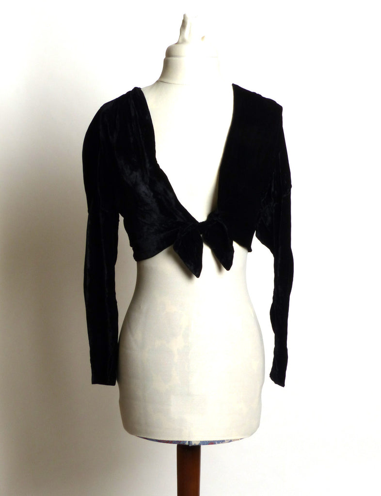 Little Black Velvet Shrug/Sweater