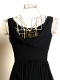 Circa 1950s Suzy Perette Silk Chiffon Black Dress