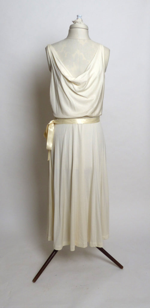 Circa 1970s Climax by David Howard Jersey Draped Cocktail Dress