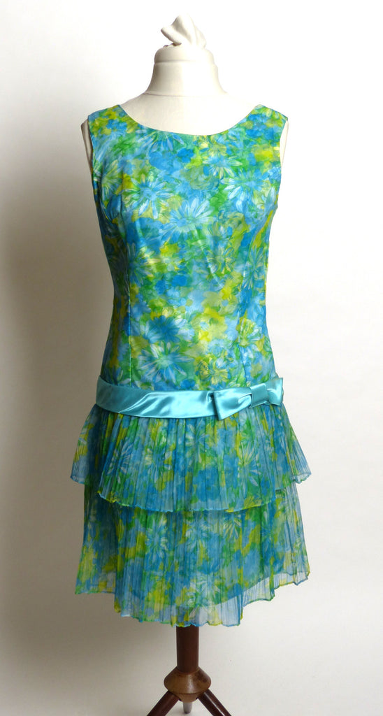 Circa 1980s Custom-Made Floral Mini Dress