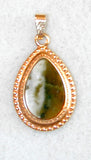 Unsigned Goldtone and Stone Pendant