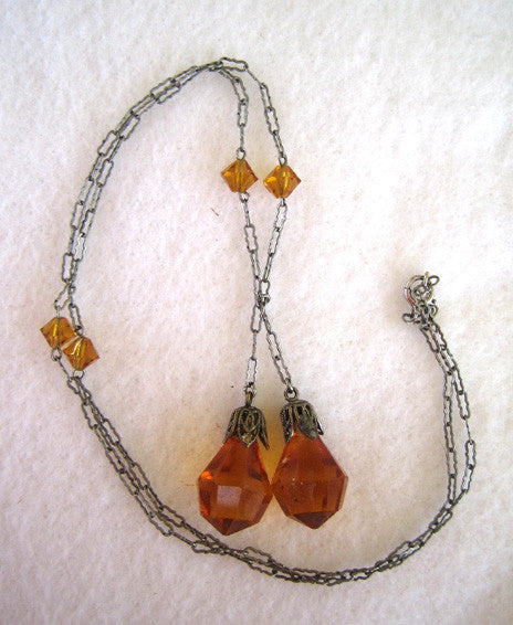 Art Deco Lariat Lavalier/Necklace