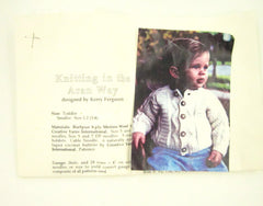 Vintage Wool Aran Toddler Cardigan Knitting Kit