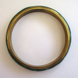 Brass Malachite Bangle Bracelet