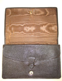 Finnigans English Brown Leather Envelope-Style Clutch Purse