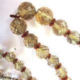 Faceted Citrine Bead Necklace