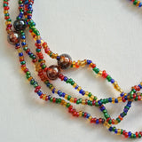 Glass multi-colored Seed Bead Necklace