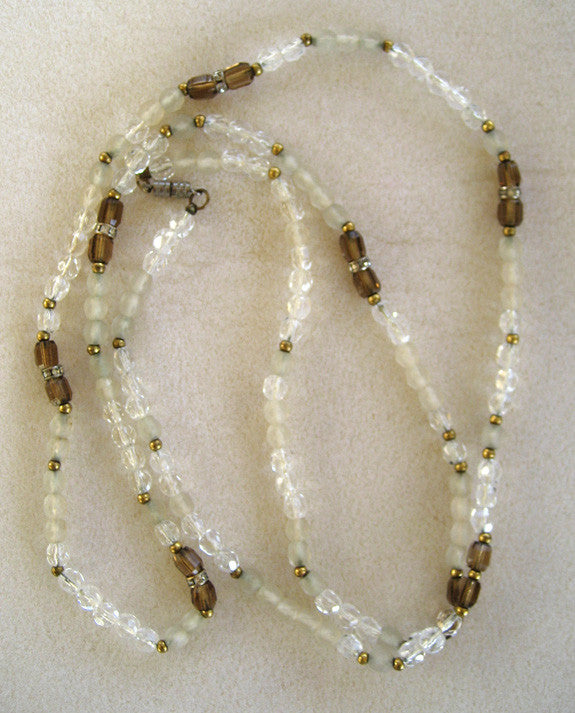 Art Deco Crystal Bead Necklace