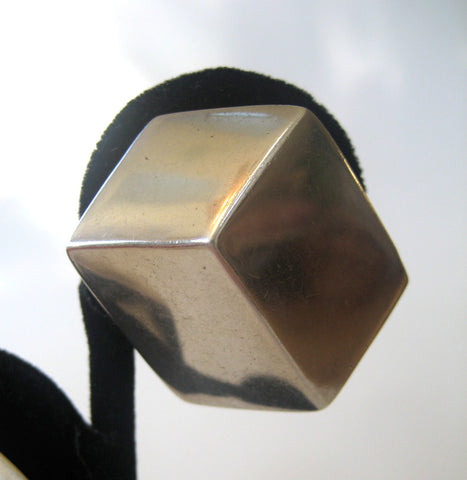 Sterling Silver Cube ESPO Earrings