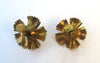 Art Nouveau Gold-tone Enamel Floral Earrings