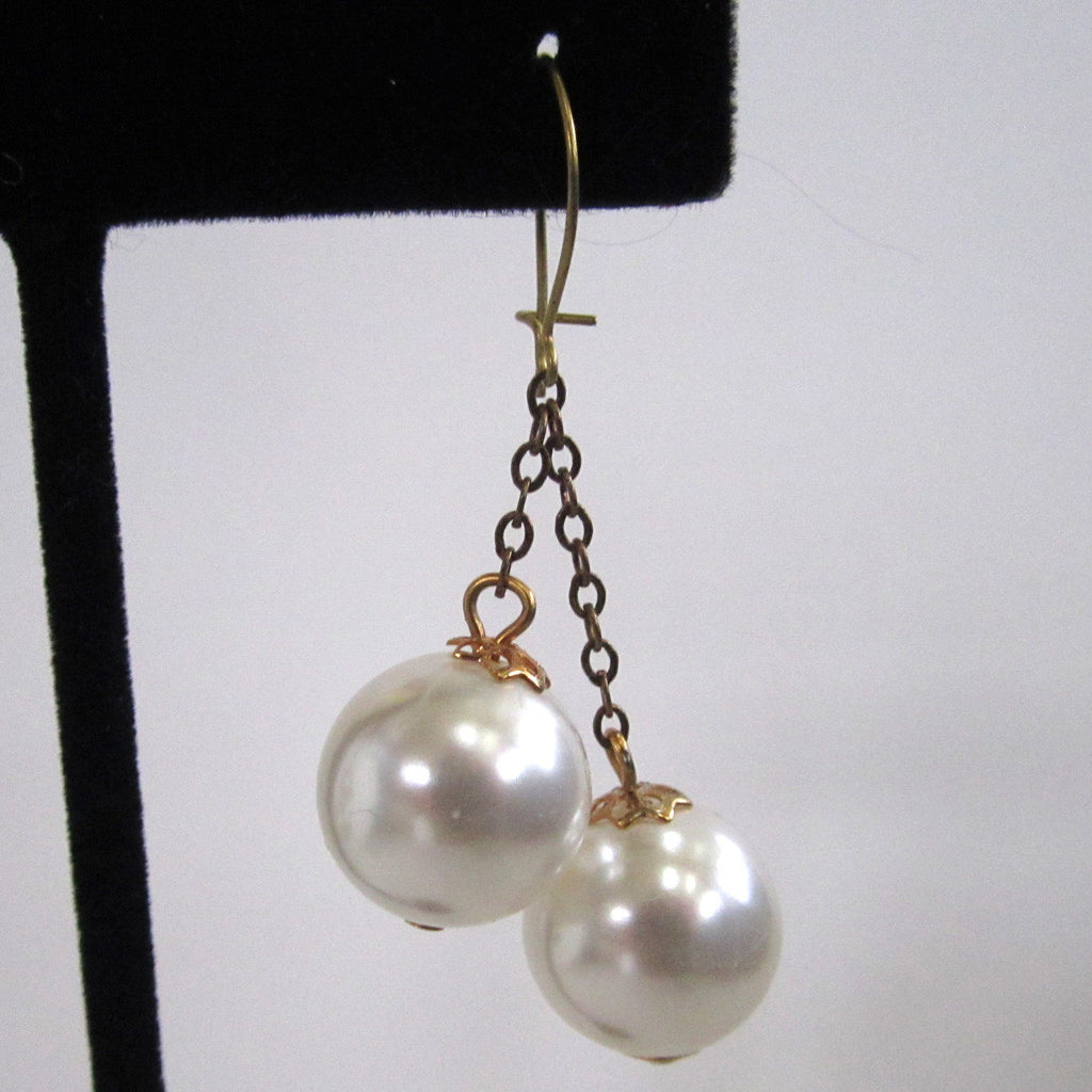 Faux Pearl Dangle Earrings