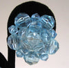 German-Made Pale Blue Plastic Faceted Bead Earrings