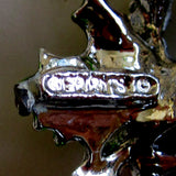 Gerry's Silver-Tone Enamel Christmas Candle Brooch/Pin