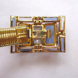 Slinky Gold-tone Glass Buckle Belt