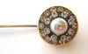 Unsigned Miriam Haskell Faux Pearl and Rhinestone Stick Pin