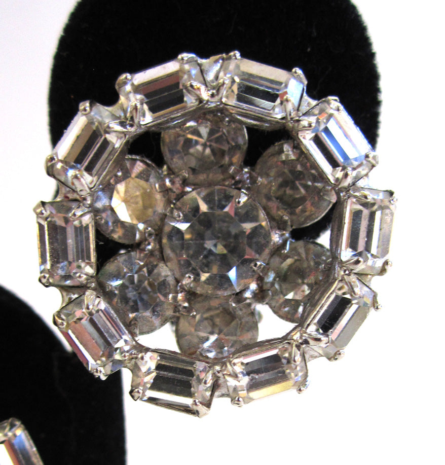 Kramer Round Rhinestone Earrings