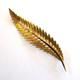 Gold-Tone Leaf Brooch/Pin