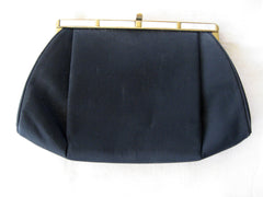 After Five Black Handbag with Mother-of-Pearl Trim