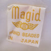 Magid Cream and Pastel Beaded Handbag